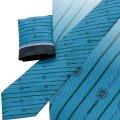 チーフ付ネクタイ ブルー