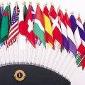万国旗25ヵ国 シルク旗