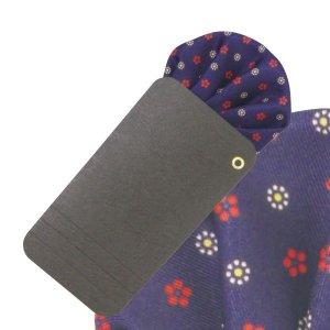 画像1: 花柄小紋プリントポケットチーフ