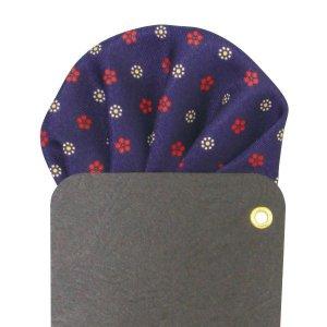 画像2: 花柄小紋プリントポケットチーフ