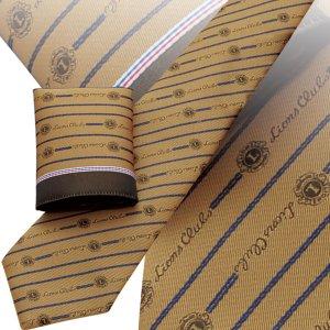 画像1: チーフ付ネクタイ ゴールド