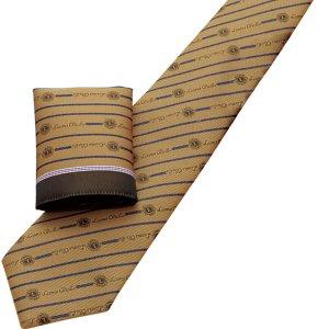 画像2: チーフ付ネクタイ ゴールド
